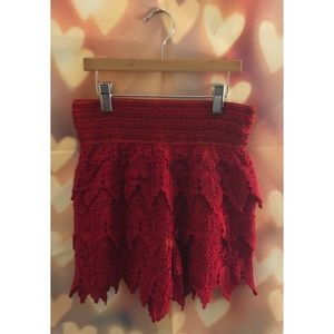 Pants - Red Lace Shorts | NWOT